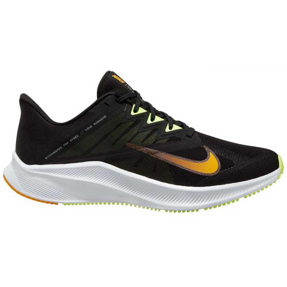 Nike Quest 3 EU 44 1/2 Black / University Gold / White / Volt Glow
