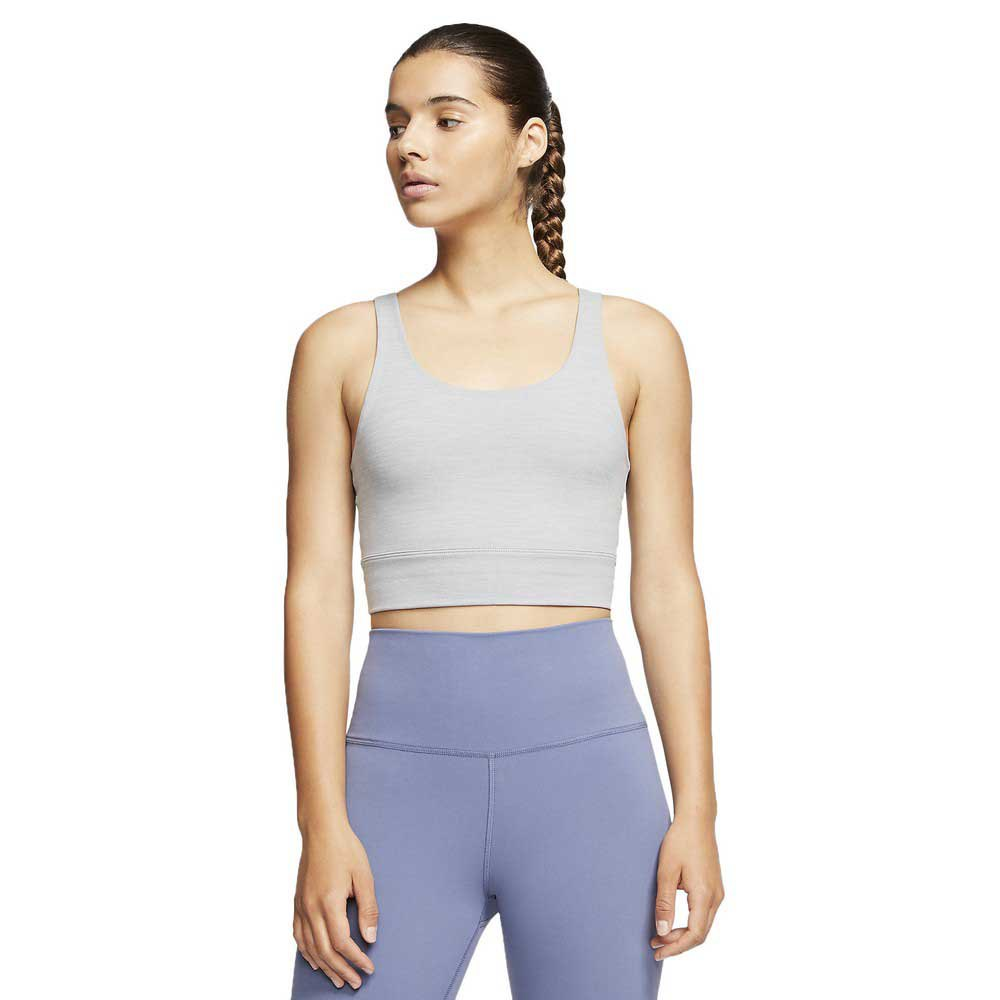Nike Yoga Luxe Crop Top S Particle Grey / Heather / Platinum Tint