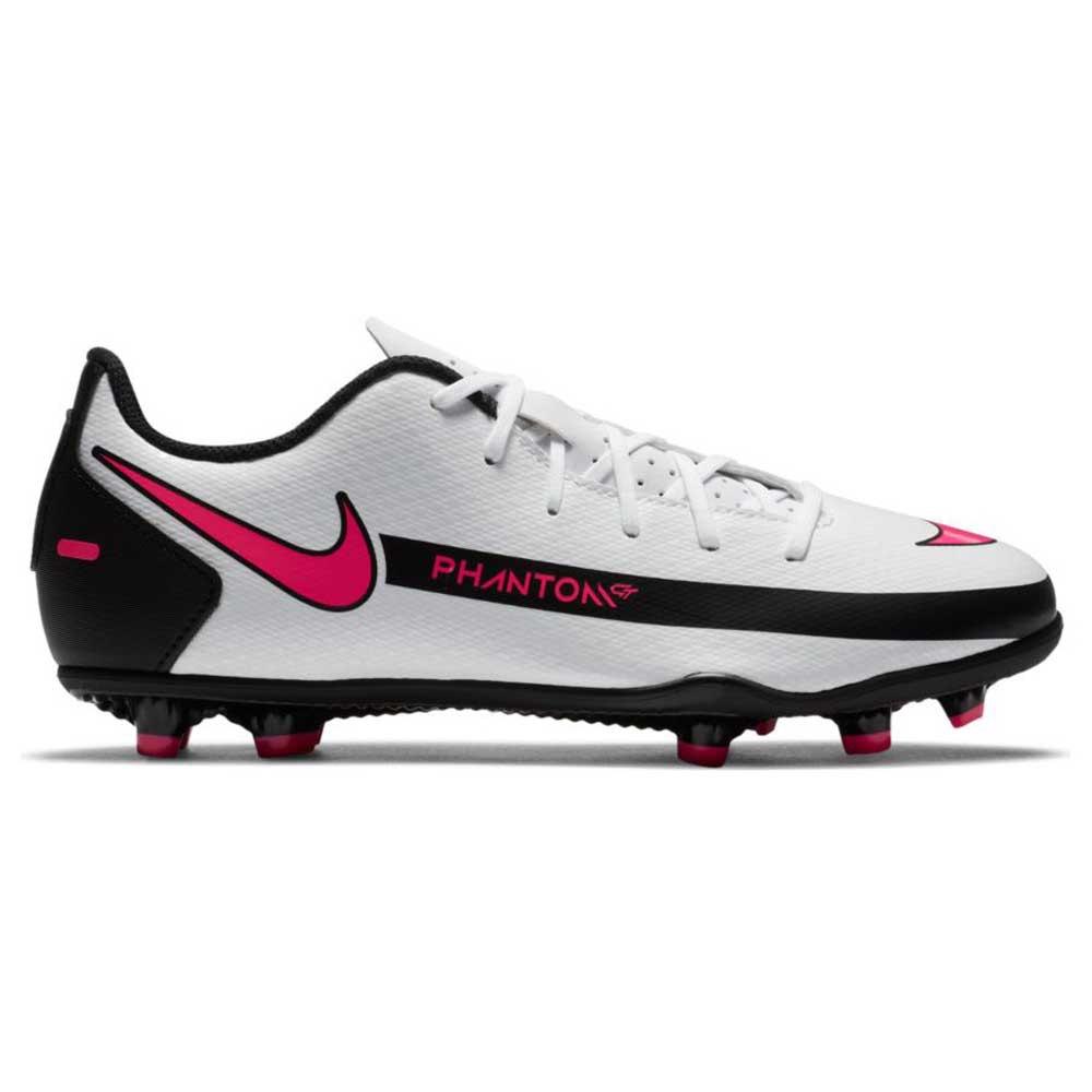Nike Phantom Gt Club Fg/mg Football Boots EU 38 1/2 White / Pink Blast / Black