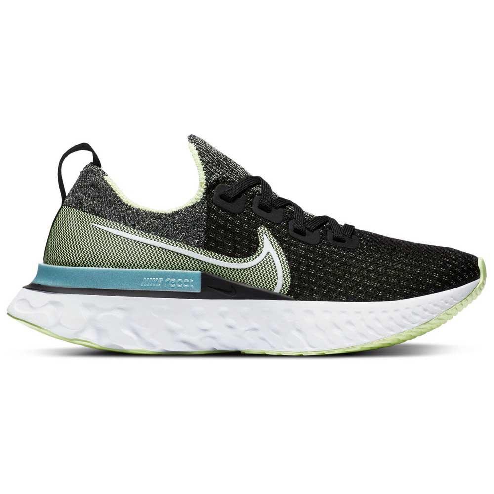 Nike React Infinity Run Flyknit EU 36 1/2 Black / White / Barely Volt / Glacier Ice
