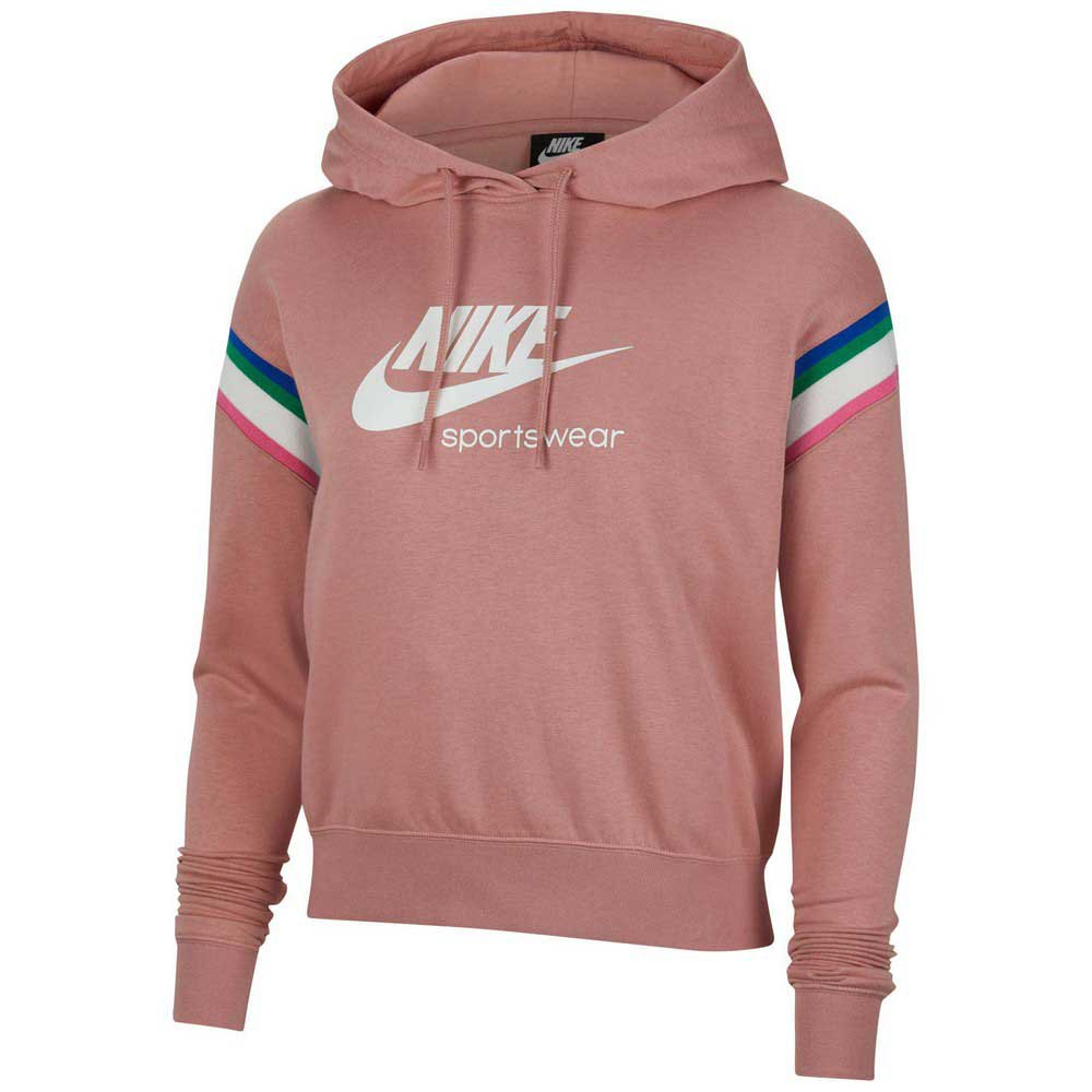Nike Sportswear Heritage Pullover S Rust Pink / White