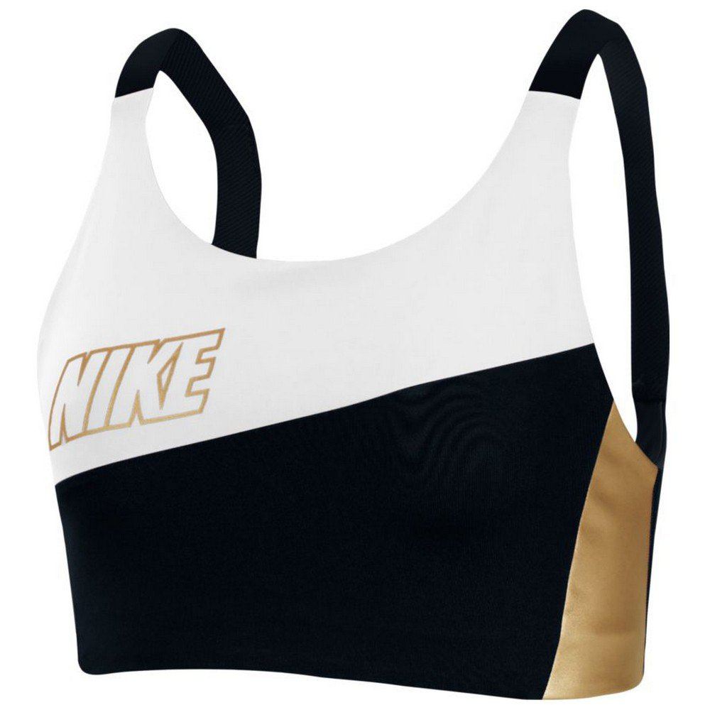 Nike Swoosh S White / Black / Metallic Gold