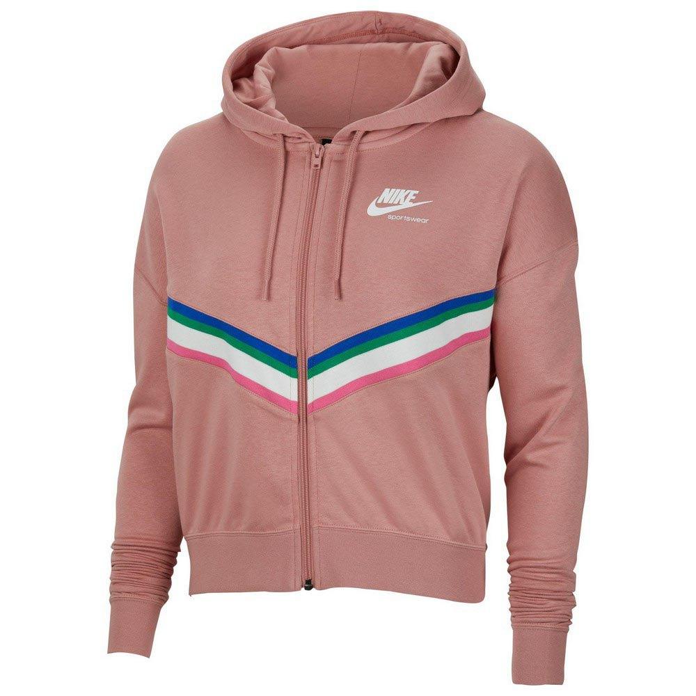 Nike Sweat À Fermeture Sportswear Heritage S Rust Pink / White