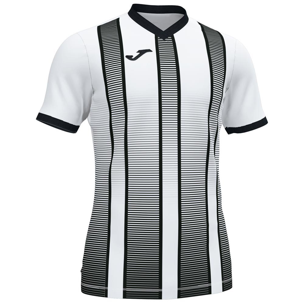 Joma T-shirt Manche Courte Tiger Ii L White / Black