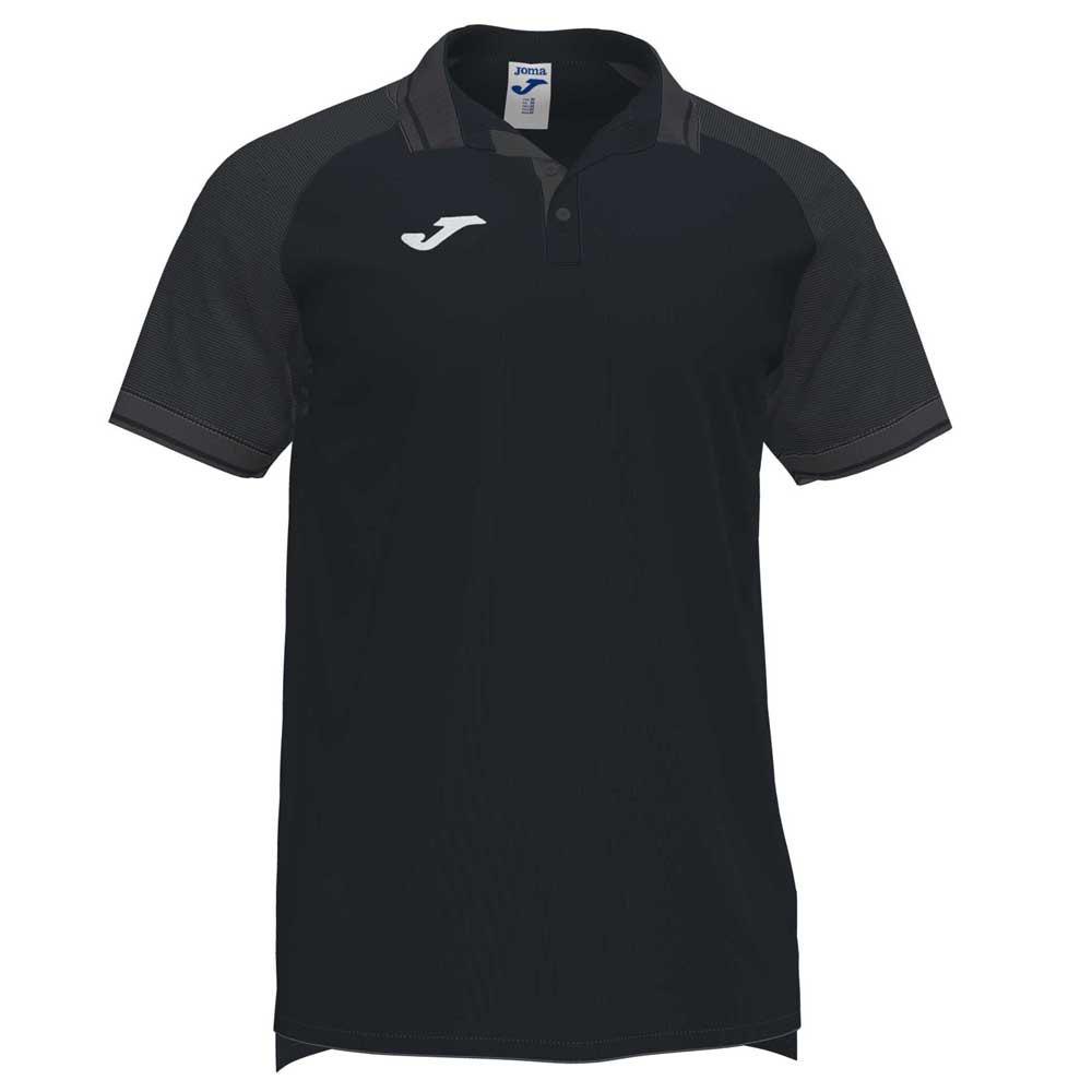 Joma Polo Manche Courte Essential Ii XL Black / Anthracite