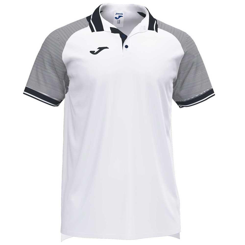 Joma Polo Manche Courte Essential Ii S White / Black