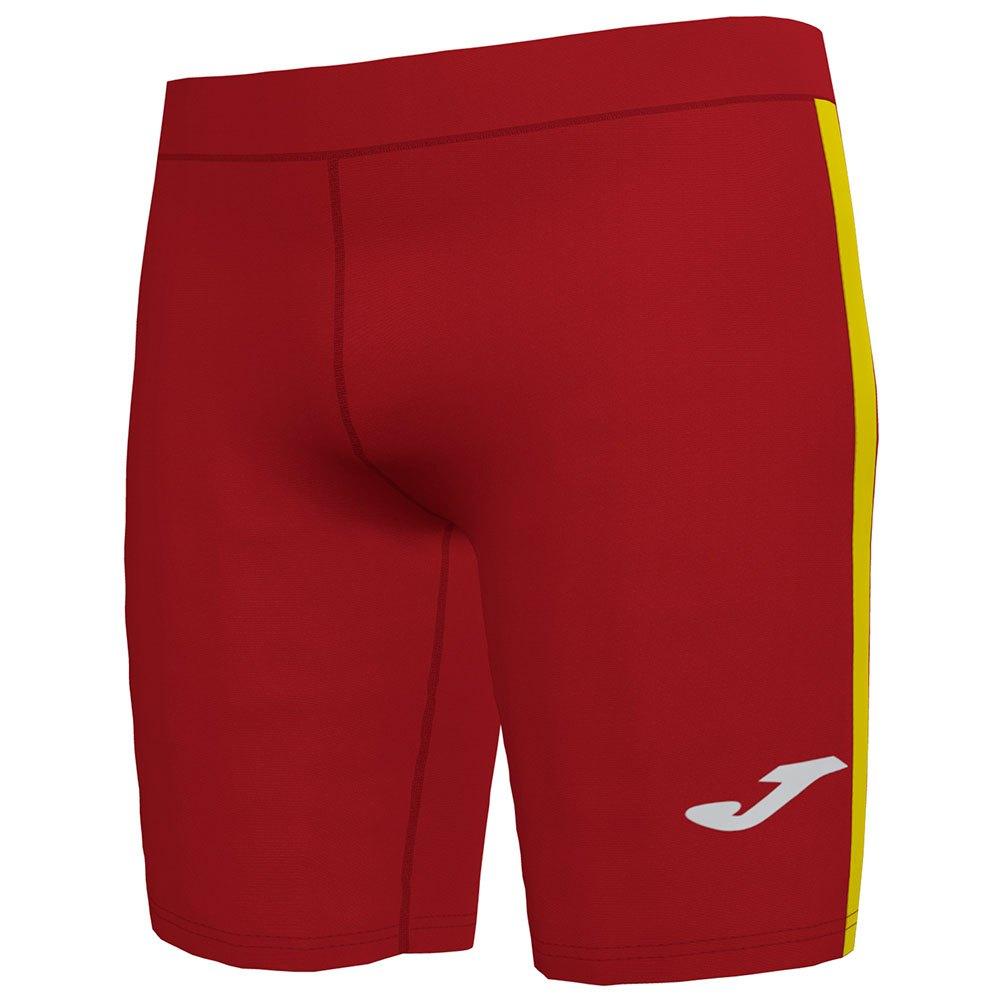 Joma Legging Courte Elite Vii 11-12 Years Red / Yellow
