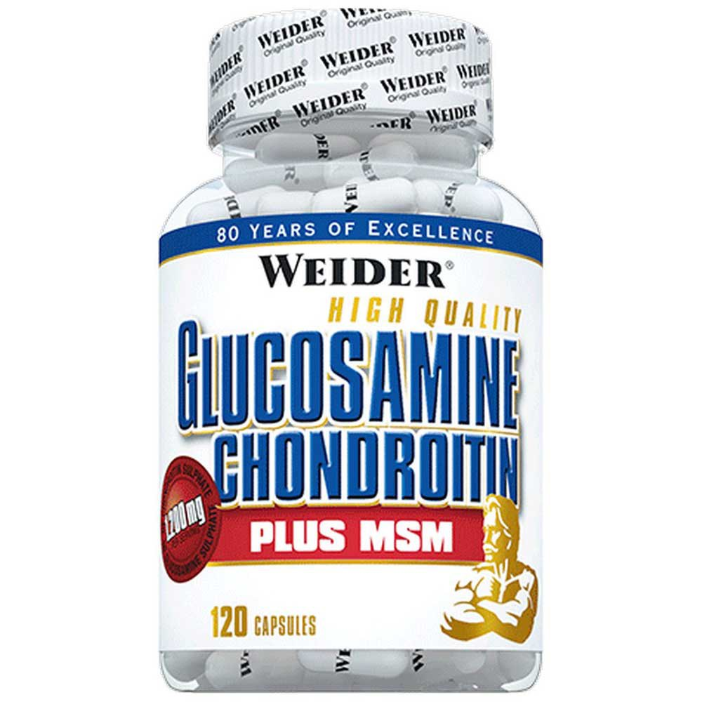 Weider Glucosamine Chondroitin Plus Msm 120 Units Without Flavour One Size Neutral