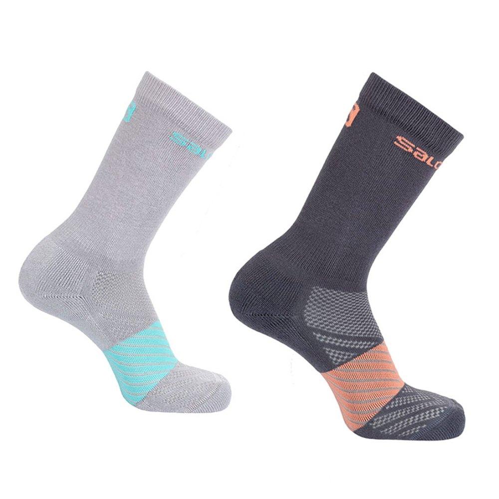 Salomon Socks Xa 2 Units Socks EU 27-30 Light Grey / Papaya Punch