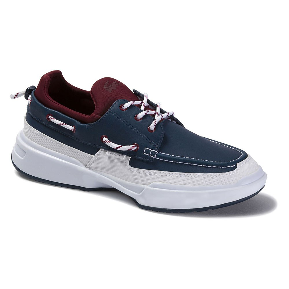 Lacoste Gennaker Leather And Syntehtic EU 45 Navy / Dark Red