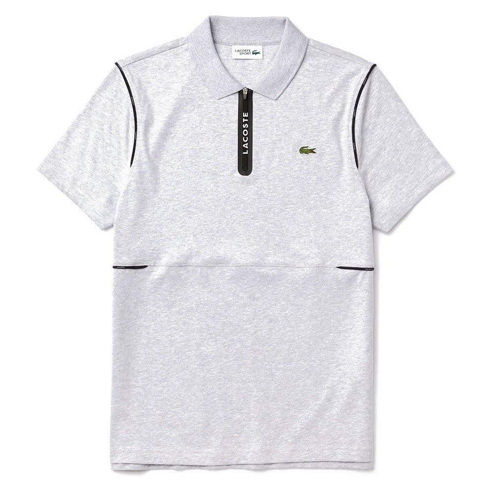 Lacoste Sport Ultra Soft Cotton XS Heather Silver / Black / White