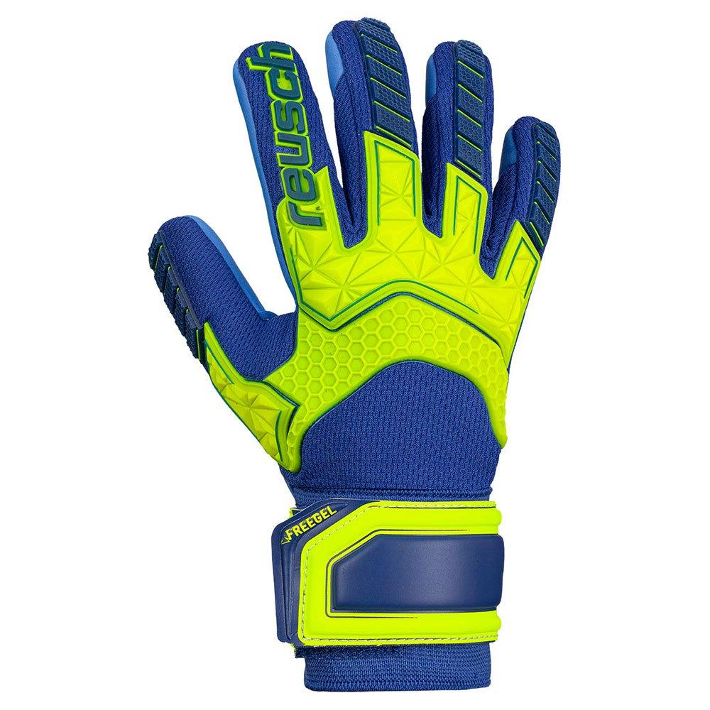 Reusch Attrakt Freegel S1 Junior Ltd 4 Safe Yellow / Deep Blueue / Deep Blue
