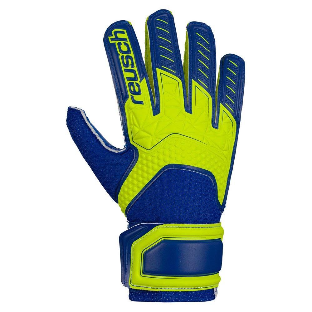 Reusch Attrakt Sd Open Cuff Junior Ltd 3 1/2 Safe Yellow / Deep Blueue / Deep Blue
