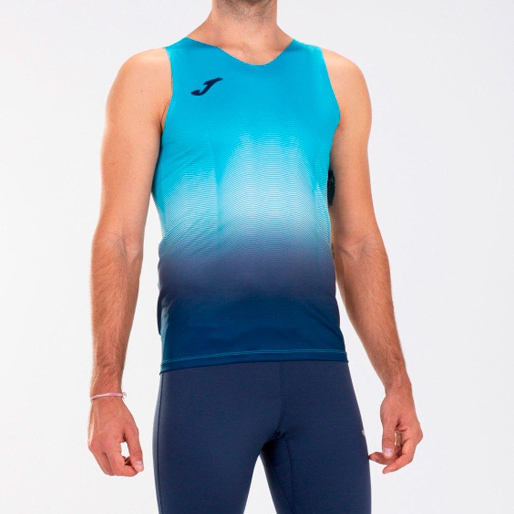 Joma T-shirt Sans Manches Elite Vii XXL Fluor Turquoise / Dark Navy