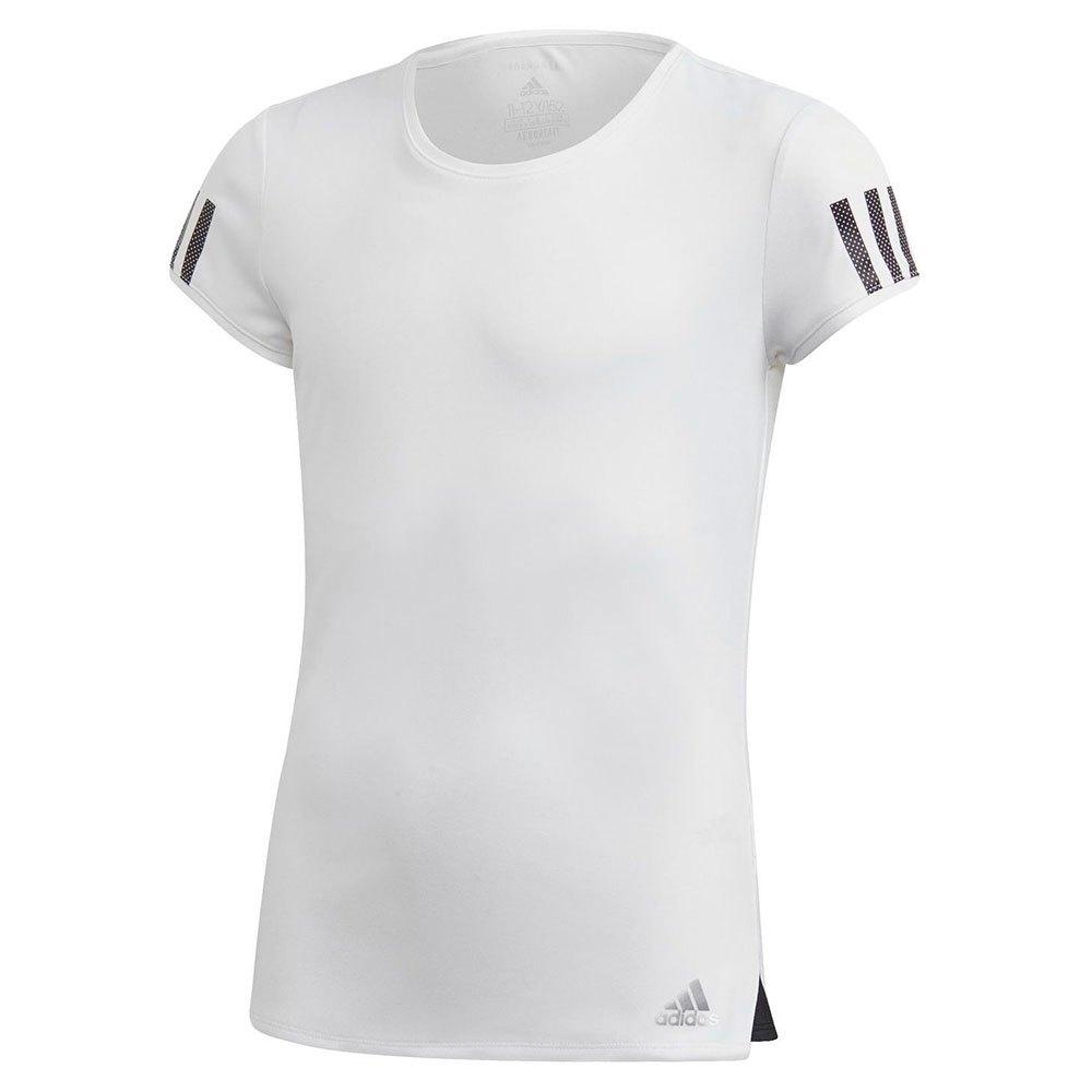 Adidas T-shirt Manche Courte Club 128 cm White / Matte Silver / Black