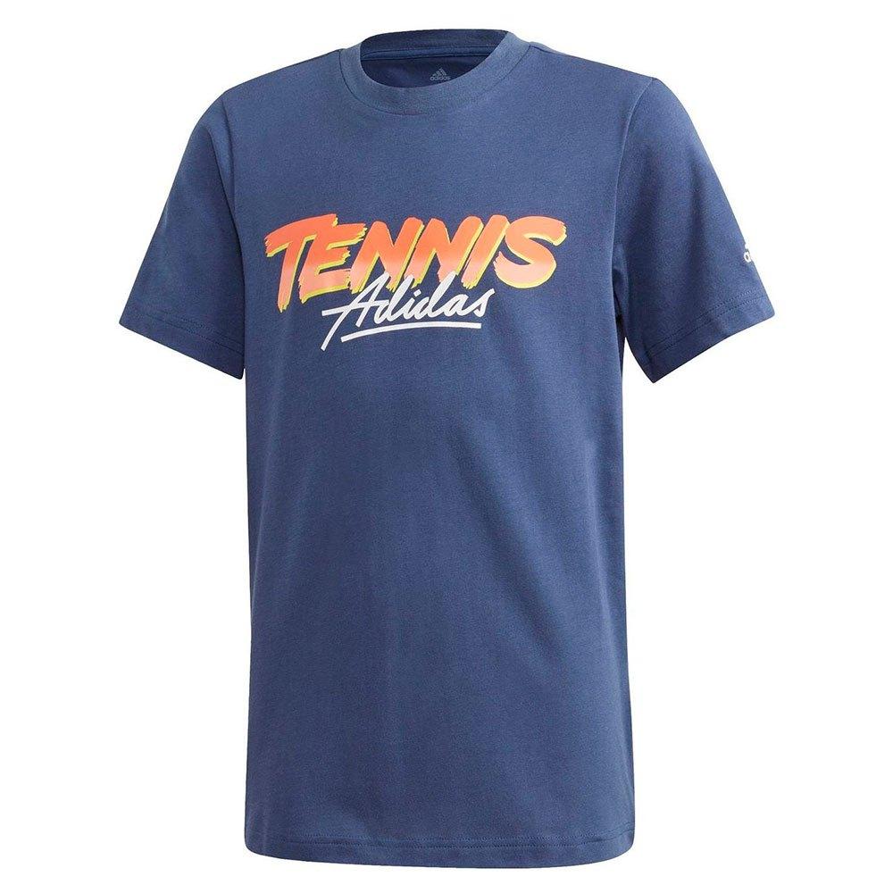Adidas T-shirt Manche Courte Graphic 152 cm Blue