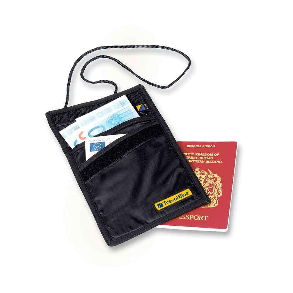 Travel Blue Rfid Blocking Slimline Neck Wallet One Size Black