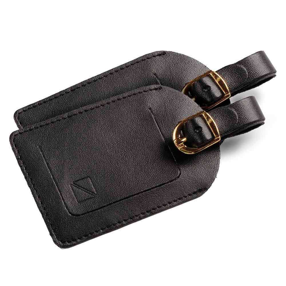 Travel Blue Leatherette Luggage Name Tag Pack Of 2 One Size Black