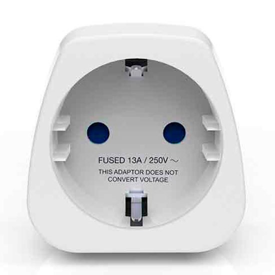 Travel Blue Europe To America Travel Adaptor Earthed One Size White