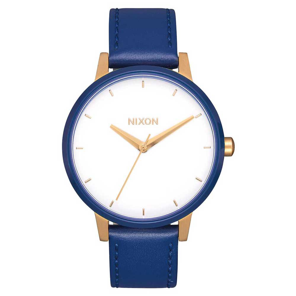 Nixon Kensington Leather One Size Gold / White / Indigo