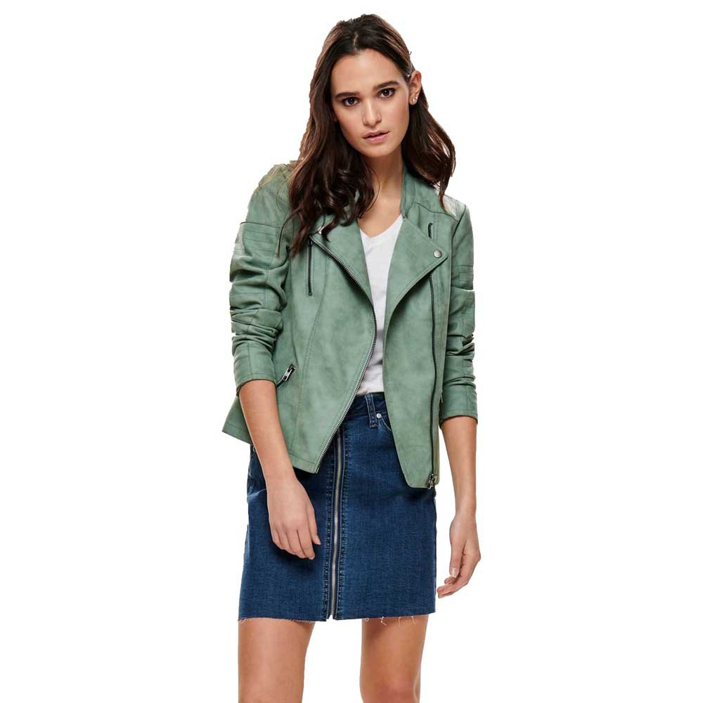 Only Ava Faux Leather Biker 34