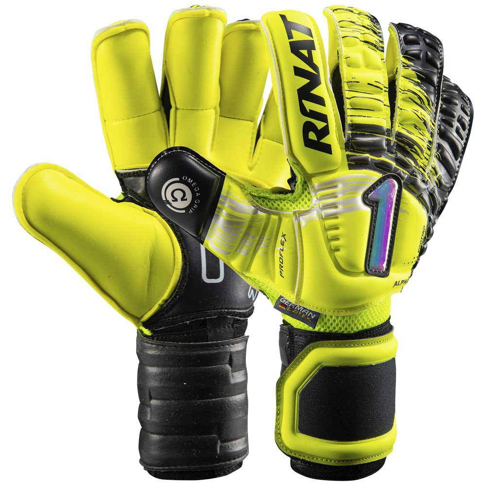 Rinat Egotiko Elemental Alpha Goalkeeper Gloves 5 Yellow / Black