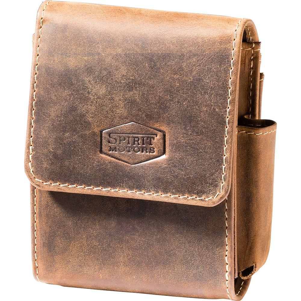 Spirit Motors Sac Ceinture Vintage Leather Pour Paquet De Cigares One Size