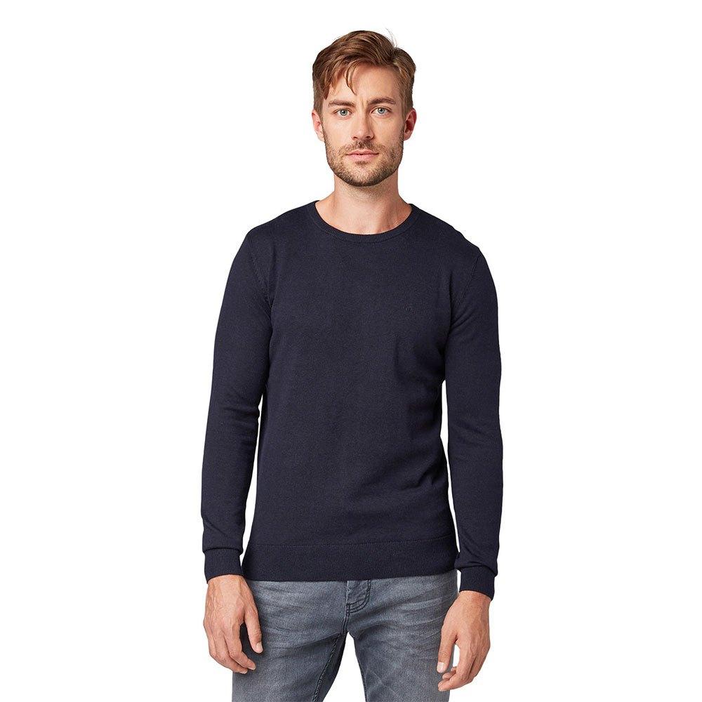 Tom Tailor Simple Knitted Jumper S Knitted Navy Melange