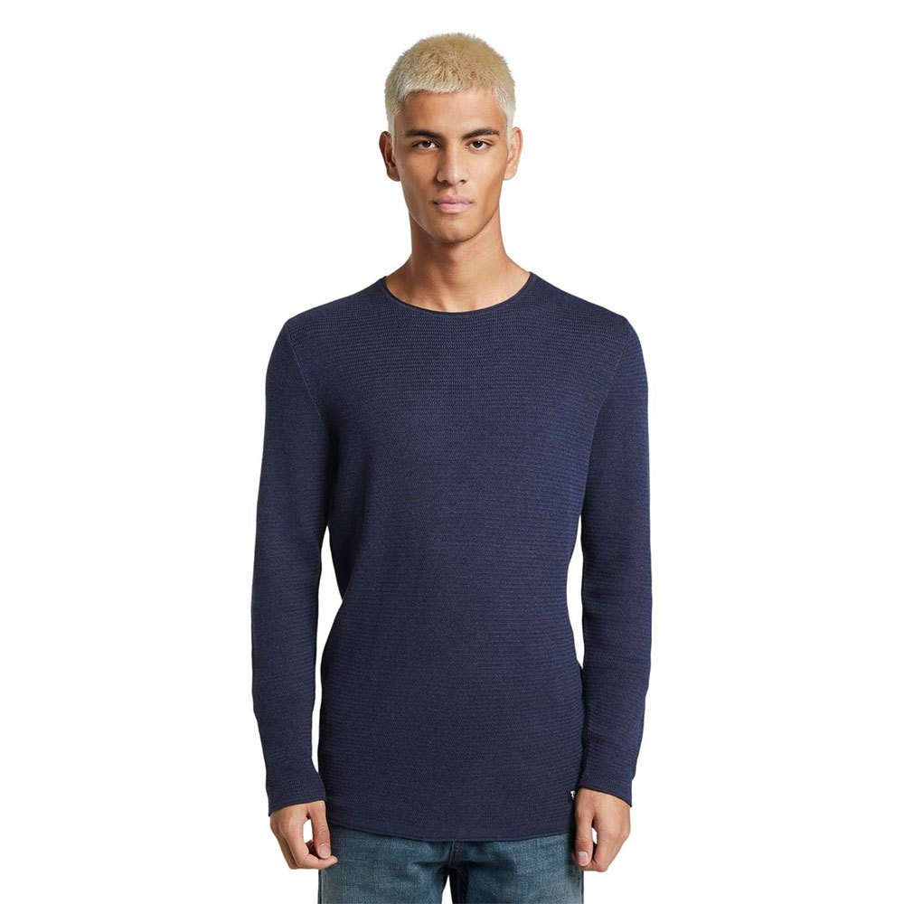 Tom Tailor Structured Jumper XL Sky Captain Blue Non-Solid