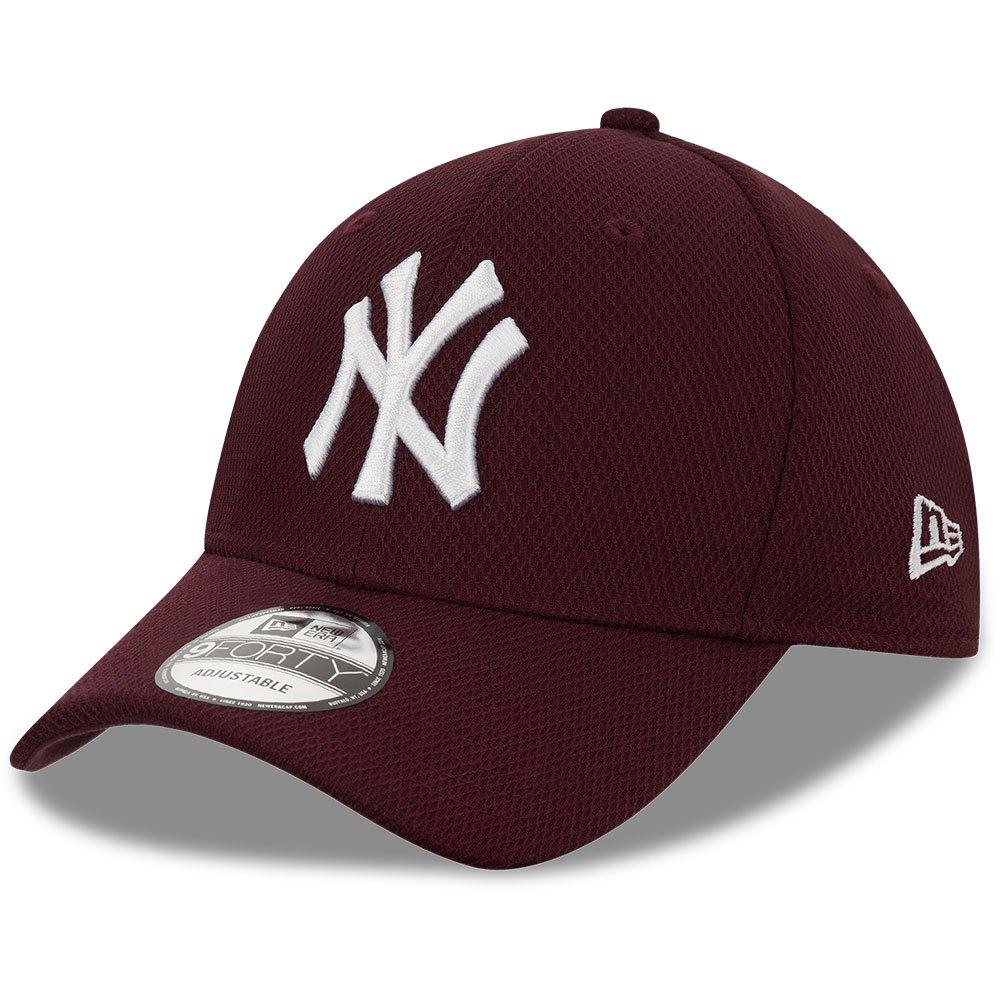 New Era New York Yankees Mlb 9forty Diamond Adjustable One Size Dark Purple