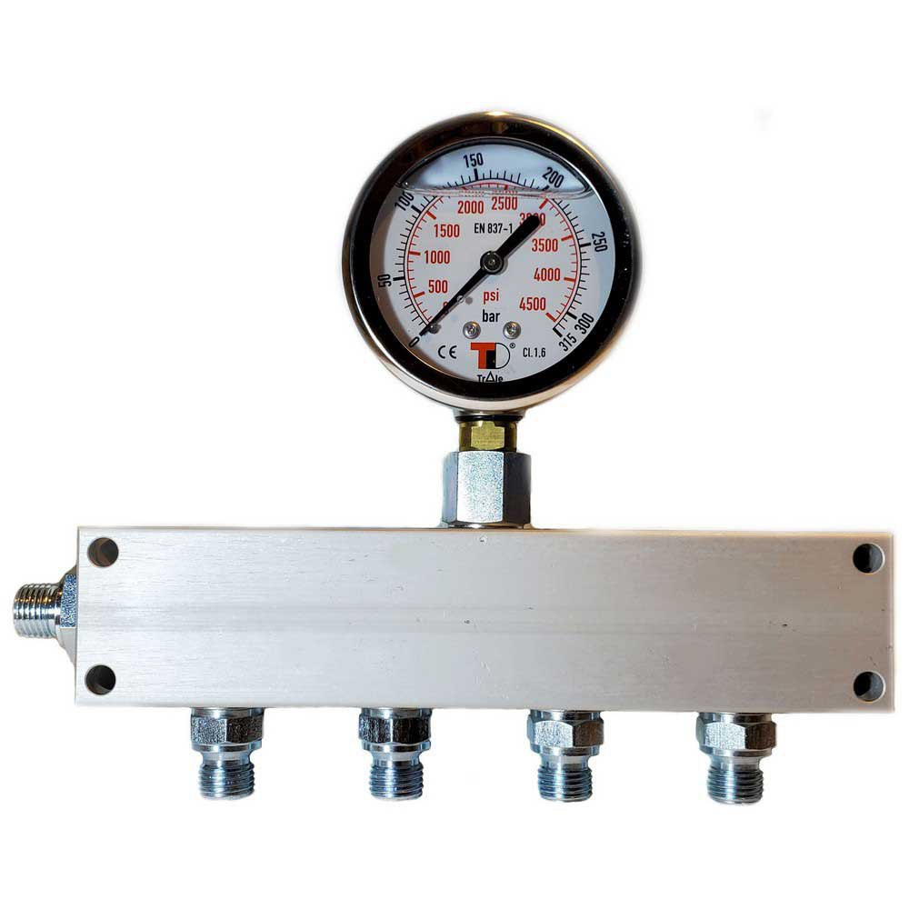 Zubehör und Ersatzteile Manifold Block With Gauge G 1/4´´ Inlet 4 Outlets