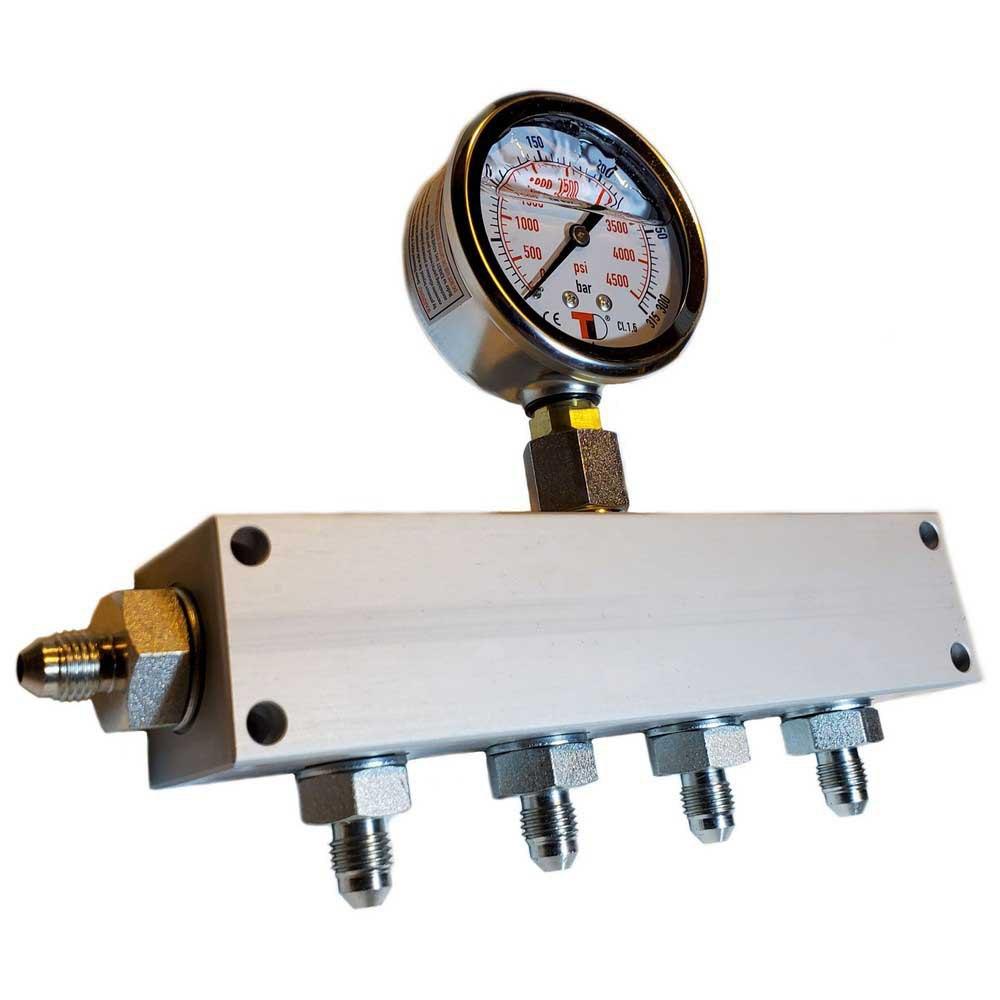 Zubehör und Ersatzteile Manifold Block With Gauge Coltri Inlet 4 Outlets