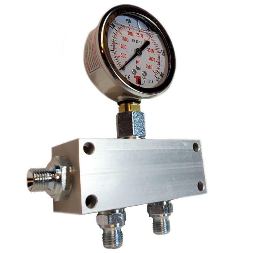 Zubehör und Ersatzteile Manifold Block With Gauge Bauer Inlet G 1/4´´ 2 Outlets