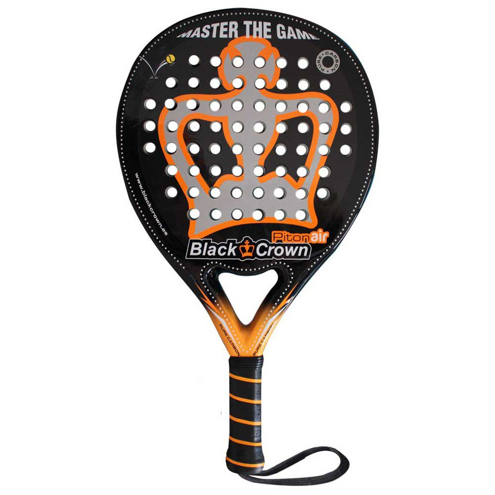 Black Crown Piton Air Padel Racket One Size Black / Orange / Grey