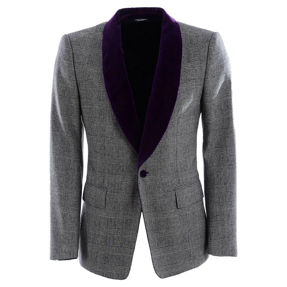 Dolce & Gabbana 732202/ Lapel Tuxedo Blazer 50 Grey