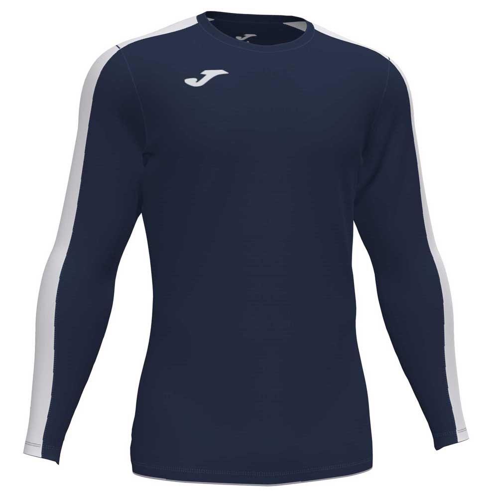 Joma Academy T-shirt Manche Longue 24 Months-4 Years Dark Navy / White