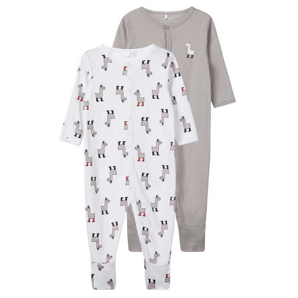 Name It Nightsuit 2 Pack 6 Months Bright White