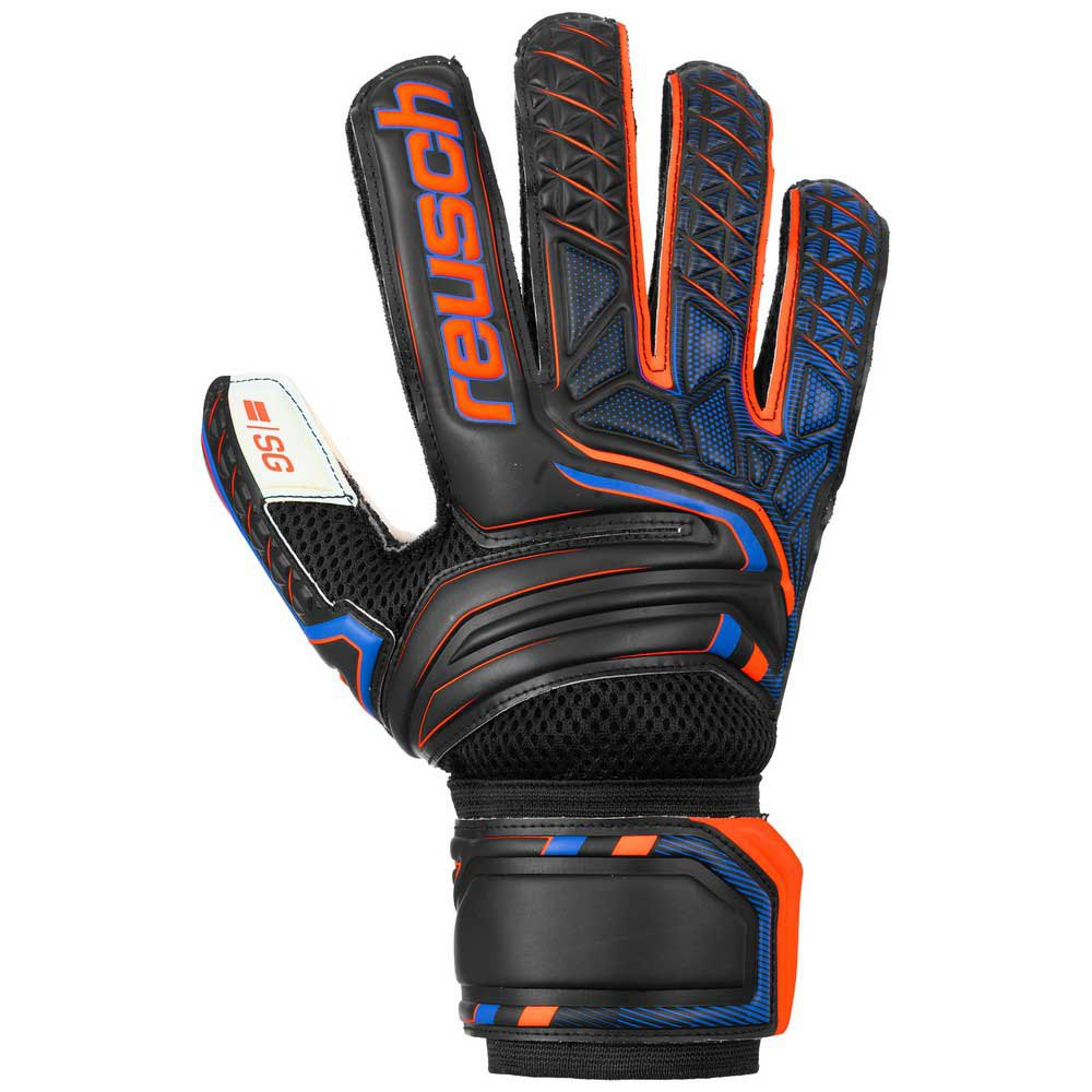 Reusch Attrakt Sg 7.5 Black / Shocking Orange