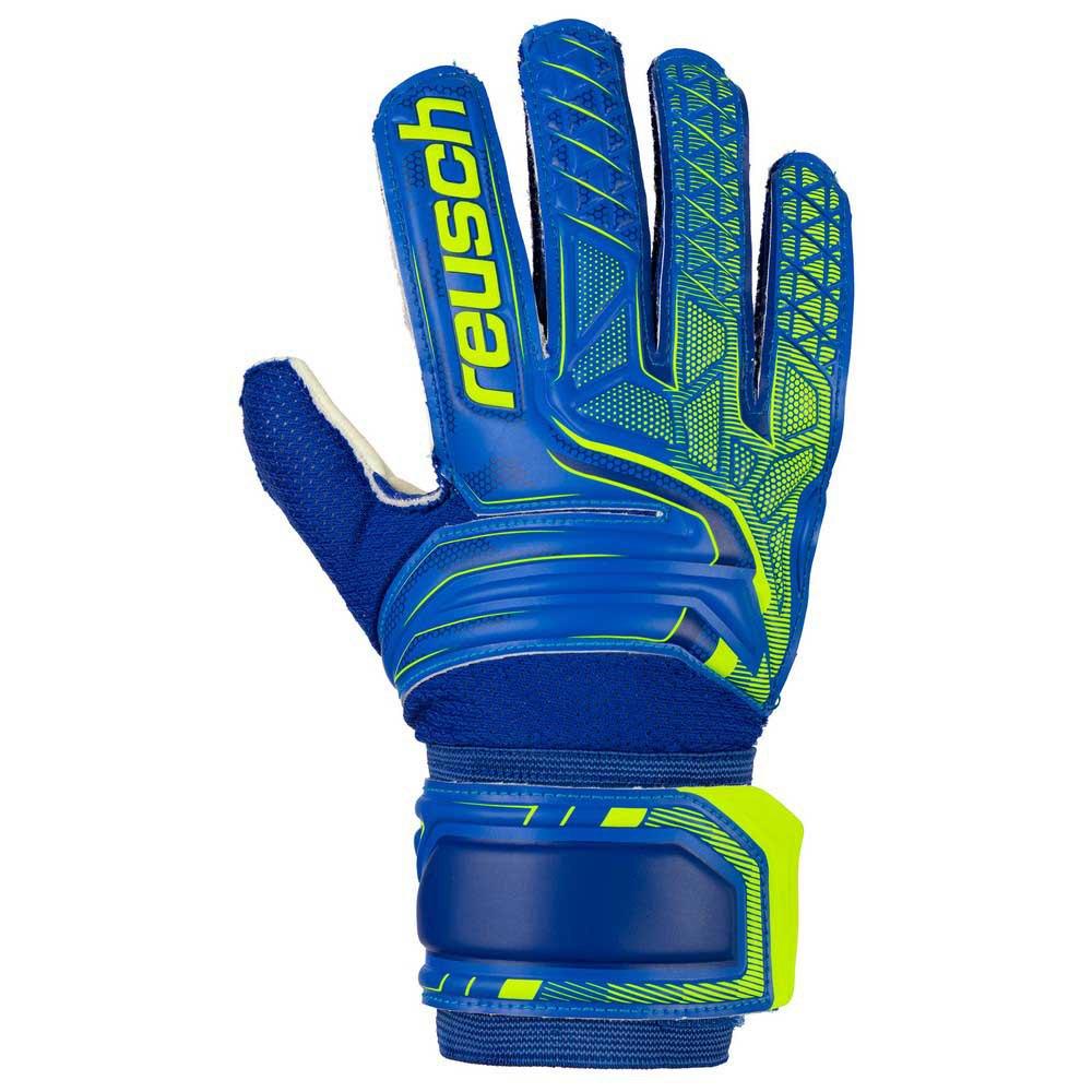 Reusch Gants Gardien Attrakt Sg 4 Deep Blue / Safety Yellow