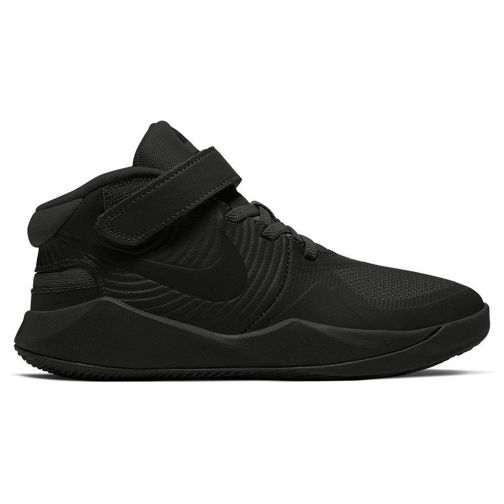 Nike Chaussures Team Hustle D 9 Flyease EU 34 Black / Black / Dk Smoke Grey / Volt