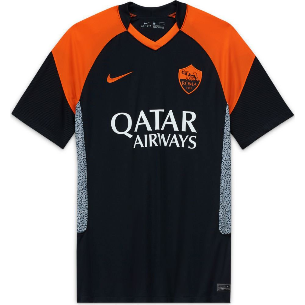 Nike As Roma Third Breathe Stadium 20/21 S Black / Safety Orange / Safety Orange