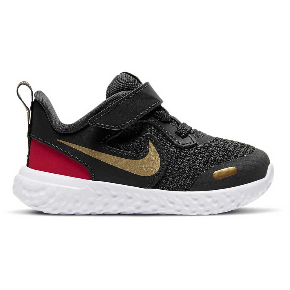 Nike Revolution 5 Tdv EU 18 1/2 Dk Smoke Grey / Metallic Gold