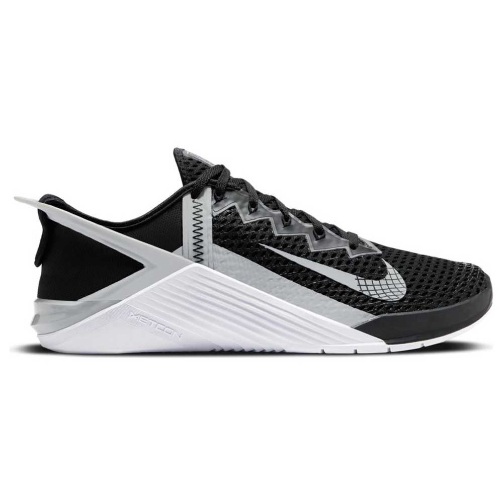 Nike Metcon 6 Flyease EU 43 Black / Lt Smoke Grey / White