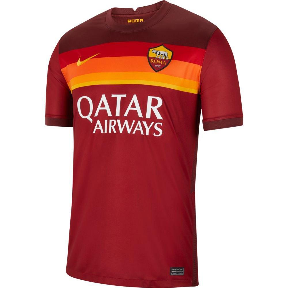 Nike T-shirt As Roma Domicile Breathe Stadium 20/21 S Team Crimson / University Gold