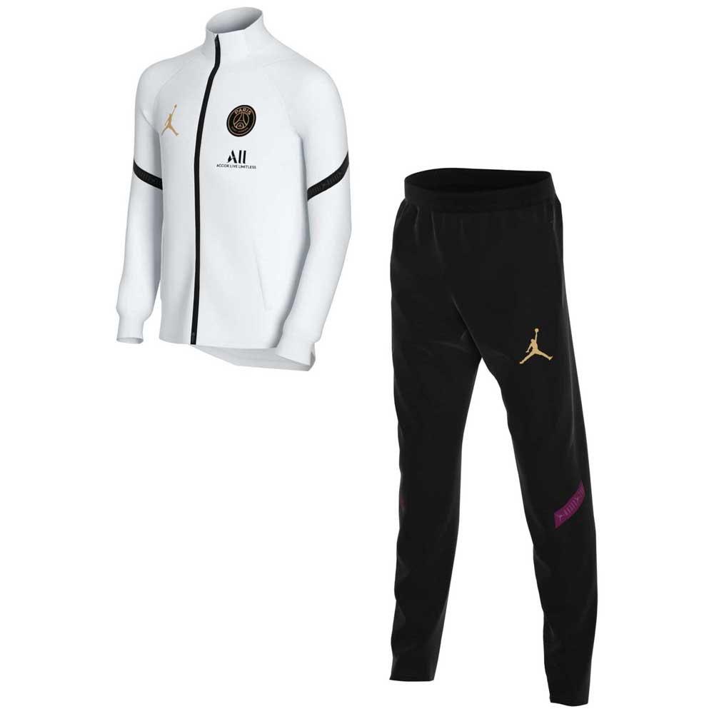 Nike Survêtement Paris Saint Germain Strike 20/21 Junior XS White / Black / Truly Gold