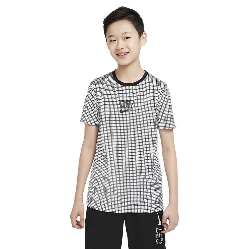 Nike T-shirt Manche Courte Dri-fit Cr7 S White / Black / Black / Iridescent