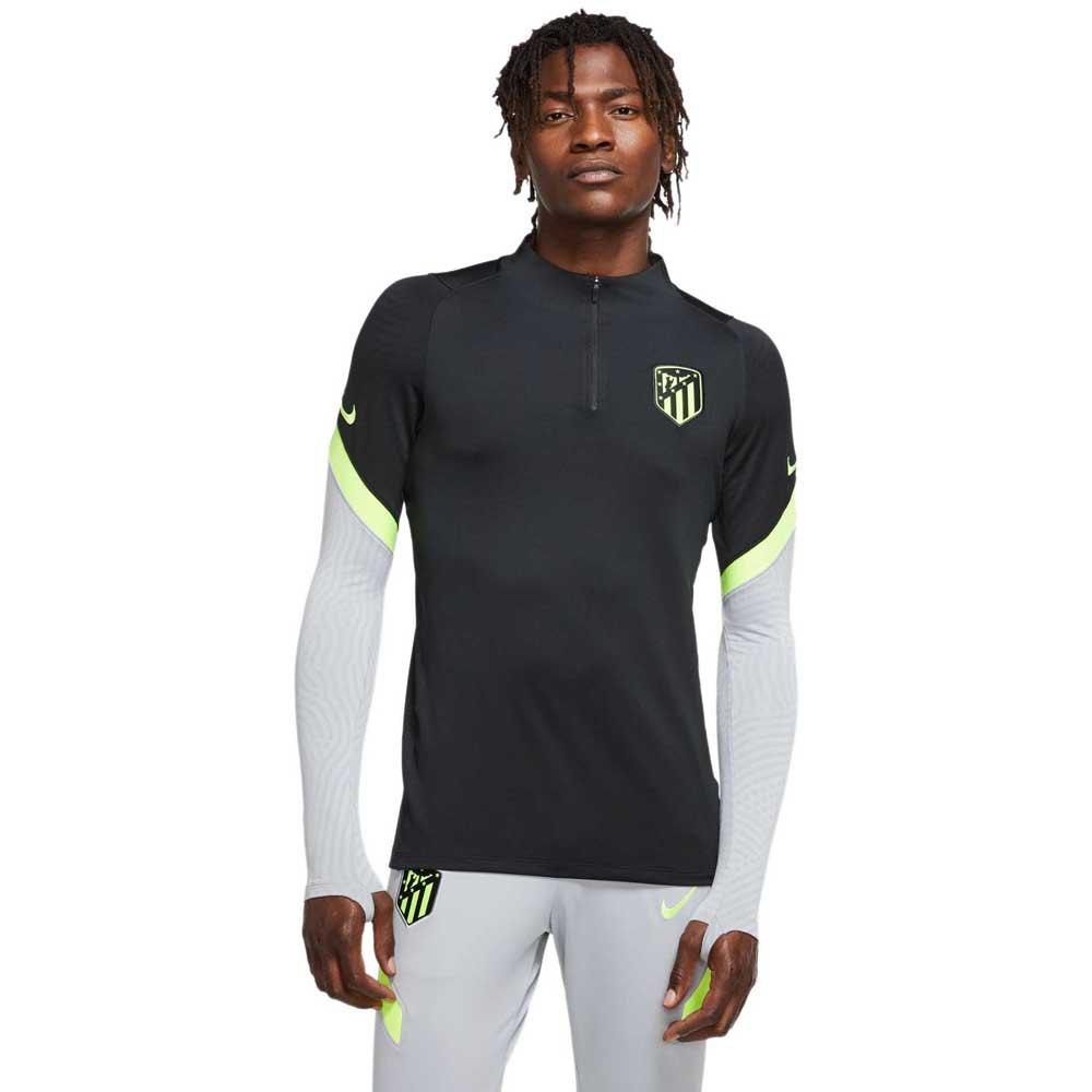 Nike T-shirt Atletico Madrid Strike 20/21 XL Black / Wolf Grey / Volt