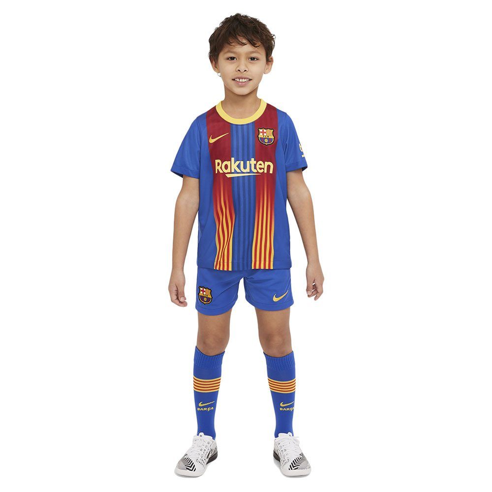 Nike Ensemble Fc Barcelona Domicile Breathe Petits Enfants 20/21 S Game Royal / Varsity Maize