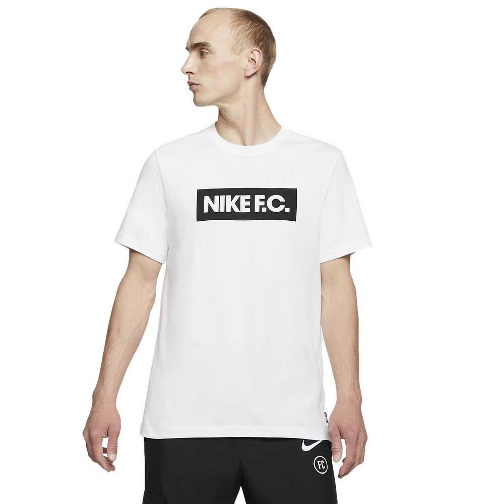 Nike T-shirt Manche Courte Fc Soccer S White / Black