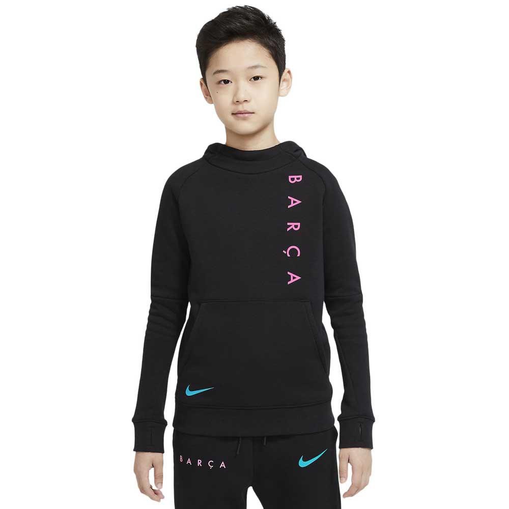 Nike Fc Barcelona 20/21 Junior XS Black / New Green